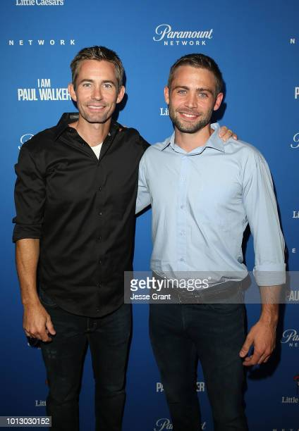 Caleb Walker and Cody Walker attend the Paramount Network World Premiere of 'I Am Paul Walker' at The London West Hollywood on August 7 2018 in West...