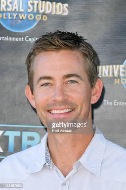 Caleb Walker visits Extra at Universal Studios Hollywood on August 8 2018 in Universal City California