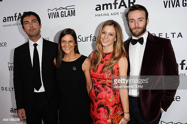 Caleb Wilding honoree Aileen Getty Alexandra Wilding and Andrew Wilding attend the 2013 amfAR Inspiration Gala Los Angeles presented by MAC Viva Glam...