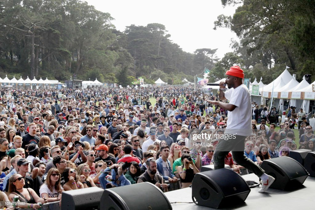 Caleborate performs on the Panhandle Stage during the 2018 Outside Lands Music And Arts Festival at Golden Gate Park on August 10, 2018 in San Francisco, California.