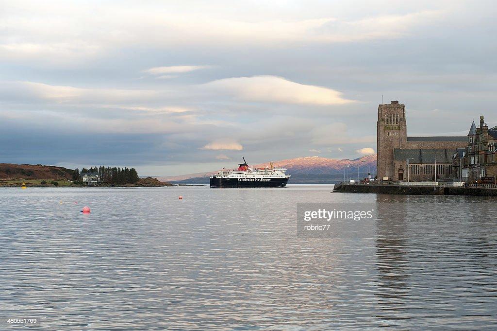 Caledonian MacBrayne Ferry Boat in Oban : Stock Photo