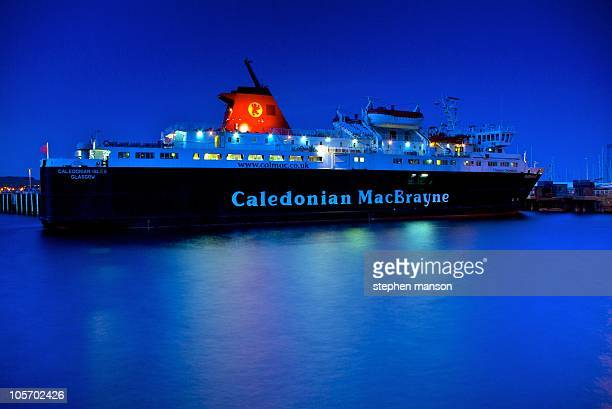Caledonian MacBrayne Ferry Caledonian Isles Nighttime in Ardrossan Harbour