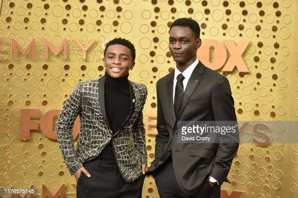 Caleel Harris and Ethan Herisse attend the 71st Emmy Awards at Microsoft Theater on September 22 2019 in Los Angeles California