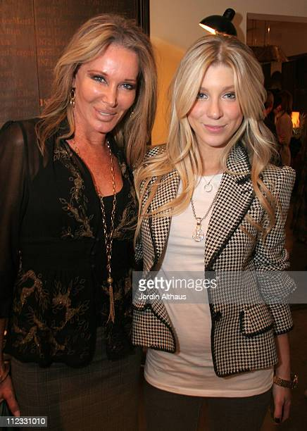 Caleigh and Christine Peters during Hip Hollywood Homes Book Party in Hollywood CA United States
