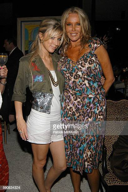 Caleigh Peters and Christine Peters attend An Evening with Ivana Trump hosted by Nikki Haskell at Nikki Haskell's Penthouse on July 19 2005 in...