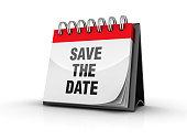 SAVE THE DATE Calendar - 3D Rendering