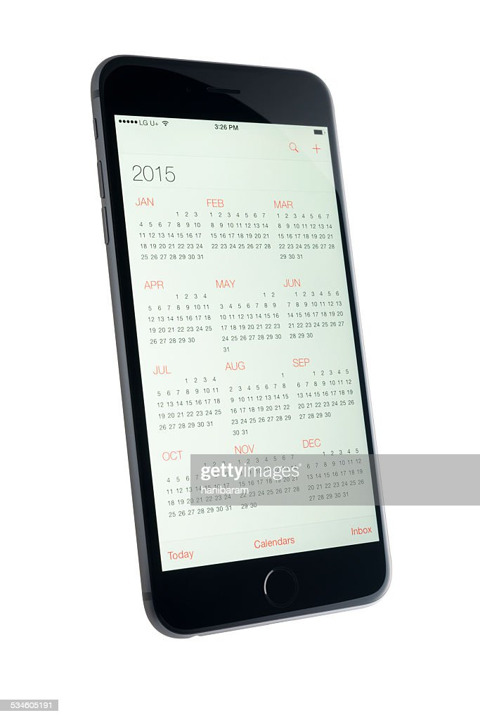Calendar App. 2015 : Stock Photo