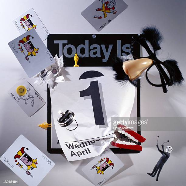 calendar - april fool's day - april fools day stock pictures, royalty-free photos & images