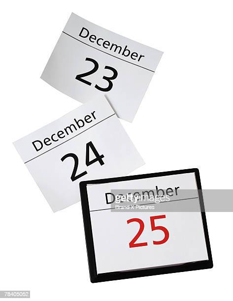 Calendar countdown to Christmas