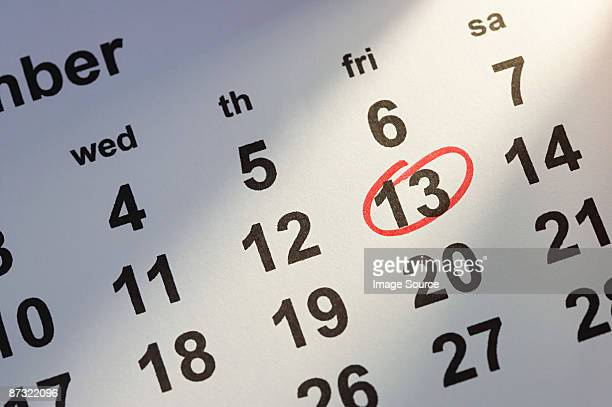 calendar date - bad luck stock pictures, royalty-free photos & images