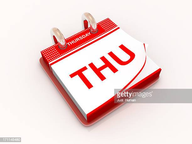 calendar day thursday - thursday stock pictures, royalty-free photos & images
