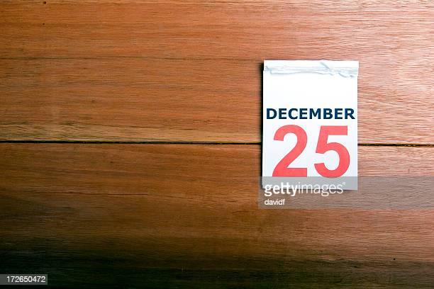 Calendario de diciembre de 25