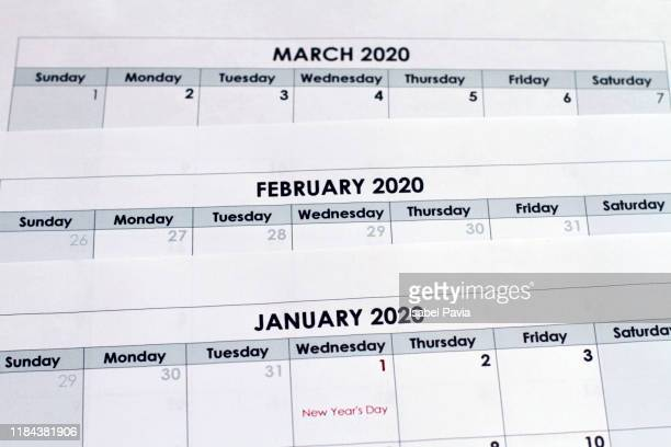 2020 calendar folders - 2020 stock pictures, royalty-free photos & images
