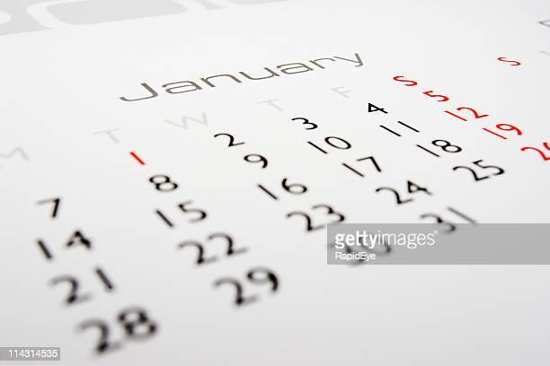 calendario: gennaio - gennaio foto e immagini stock