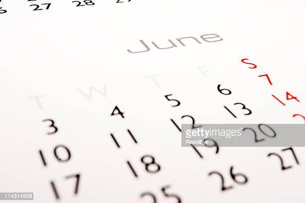 Calendário: De Junho
