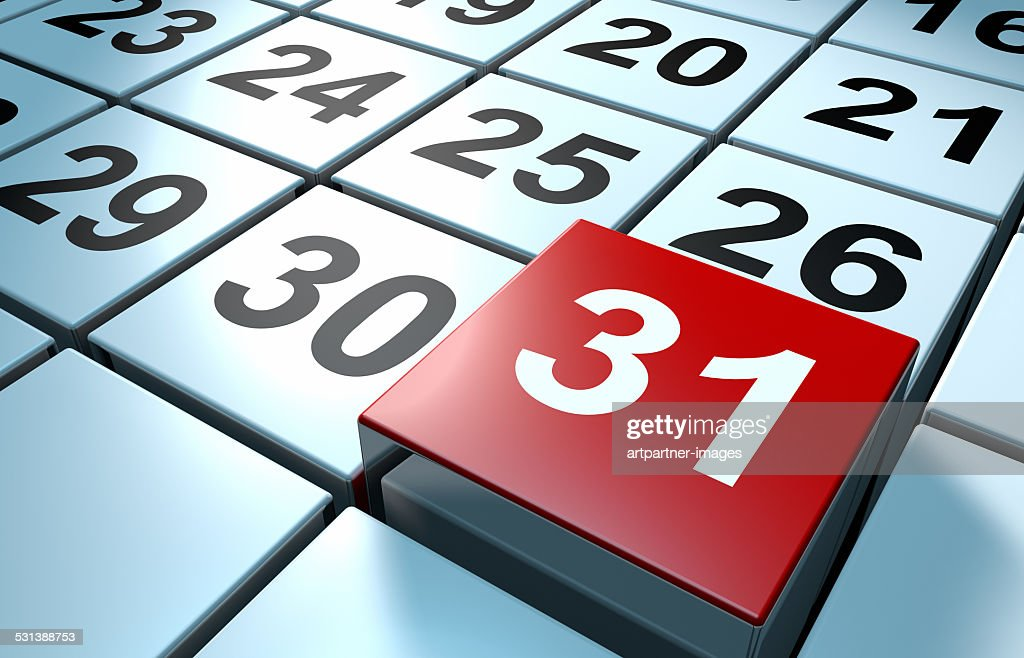 Calendar: last due date : Stock Photo
