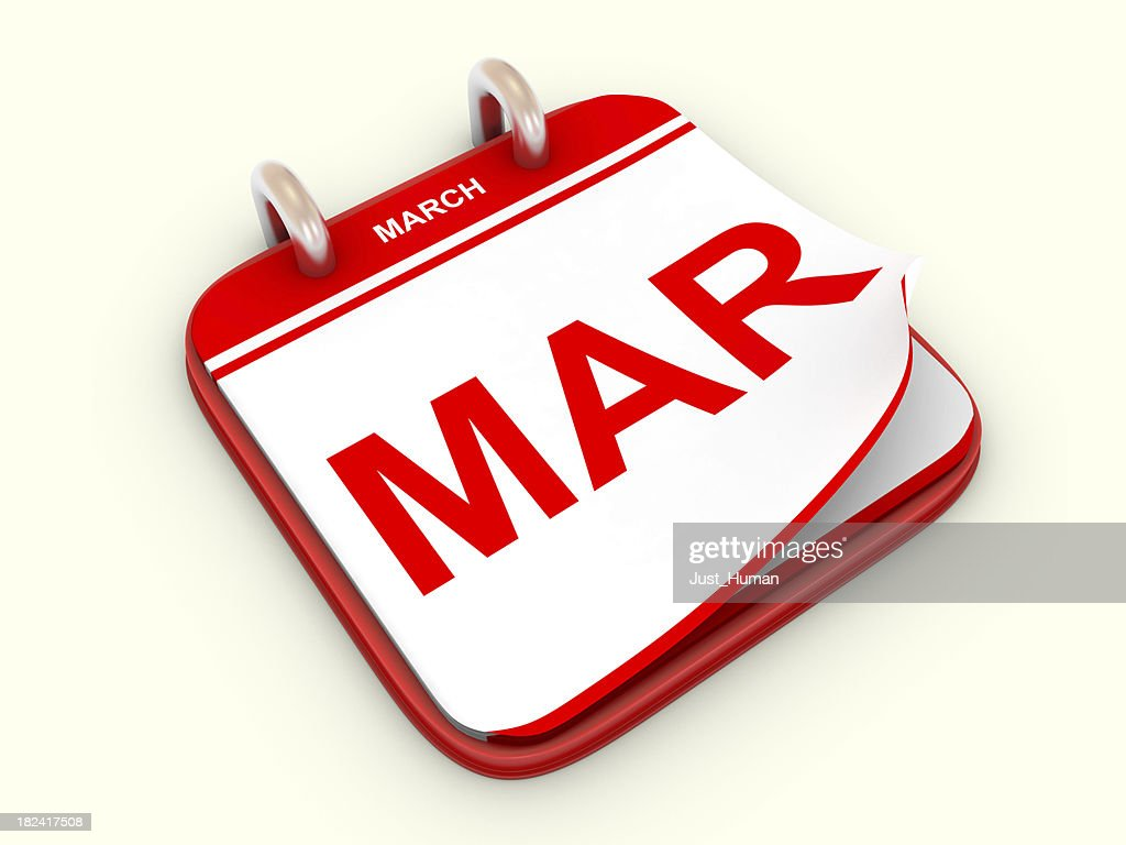 Calendar month March : Stock Photo