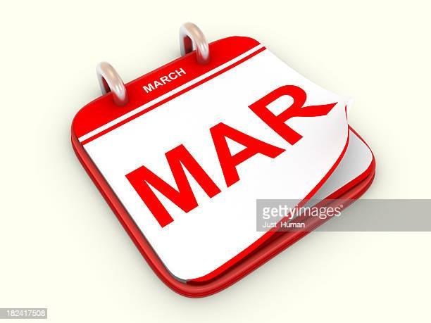 Calendario mes de marzo.