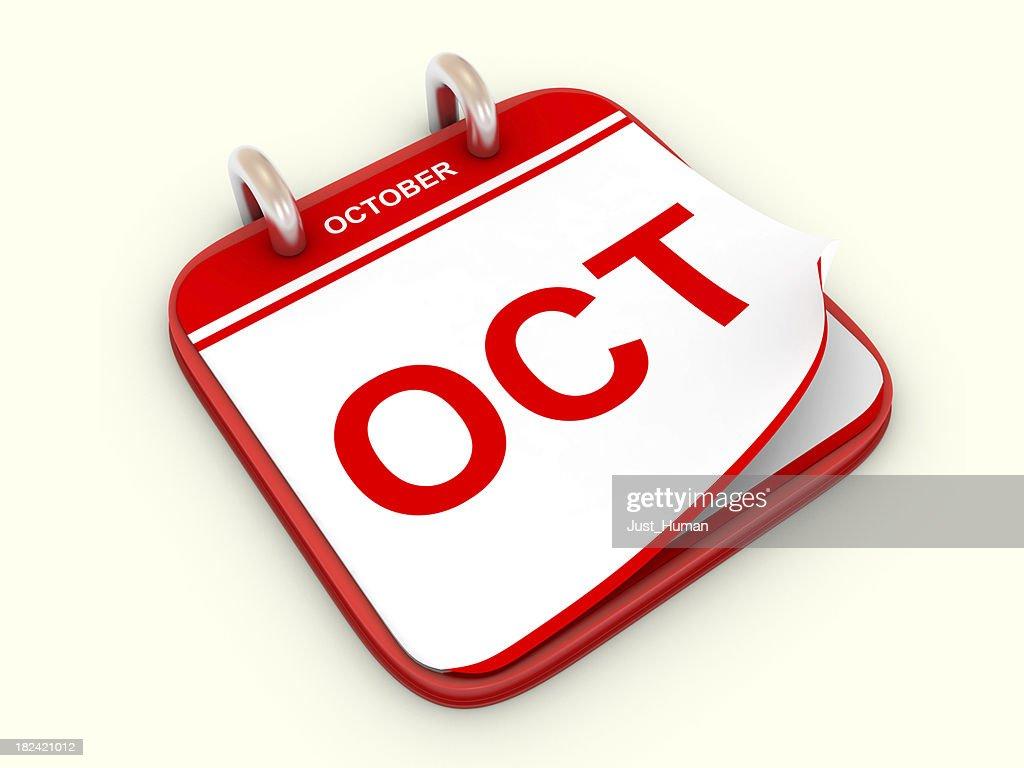 Calendar month October : Stock Photo