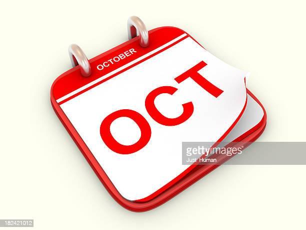 Calendario mes de octubre.