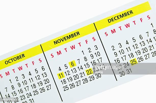 Calendar  Monthly strip