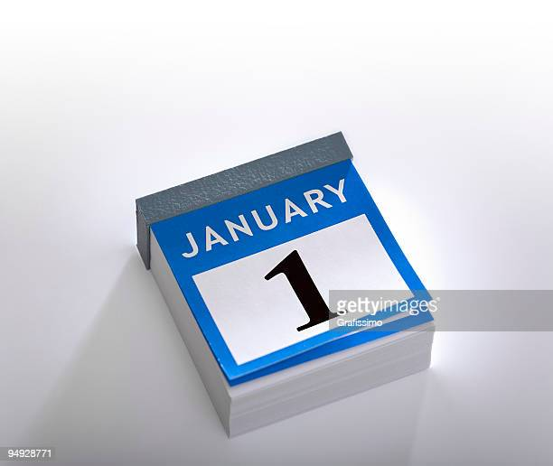 カレンダー、新しい年 1 月 1 日~2016 年