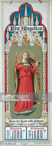 Calendar of angel musicians was published on January 1, 1909 in London, England.