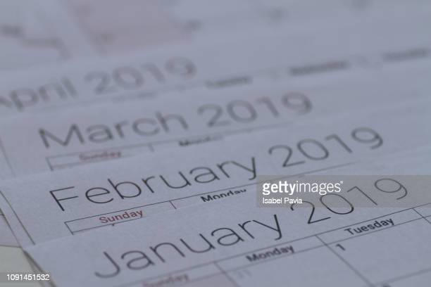 2019 calendar - annual event stock pictures, royalty-free photos & images