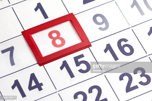calendar - 8 9 jaar stockfoto's en -beelden