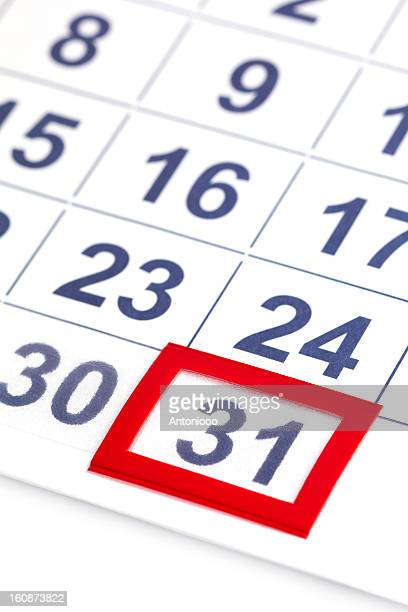calendar - number 31 stock pictures, royalty-free photos & images