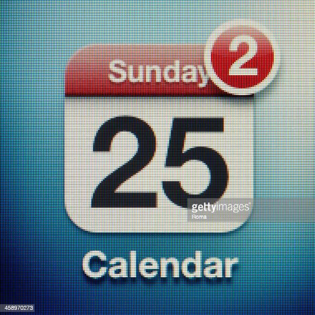 calendar - calendar icon stock photos and pictures