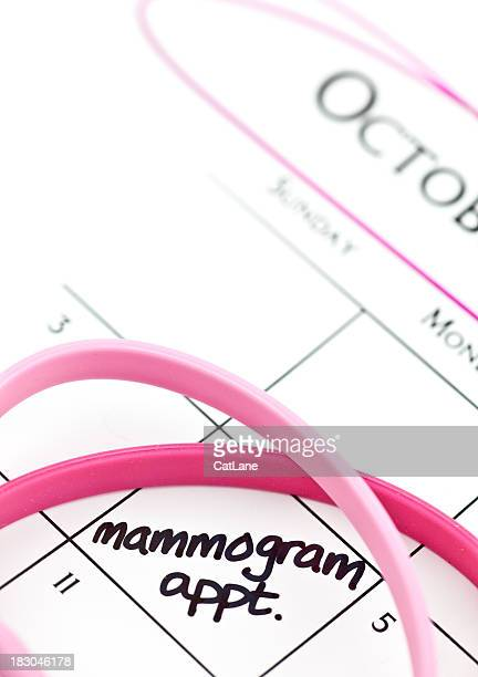 calendar series mammogram appointment - mammogram stock pictures, royalty-free photos & images