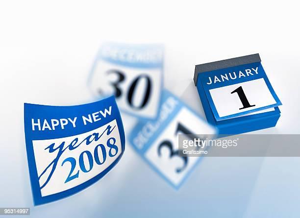 Calendar wishing happy new year 2008
