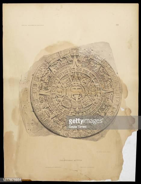 Calendario Azteca, Monumentos del arte mexicano antiguo: ornamentación, mitología, tributos y monumentos, Peñafiel, Antonio, 1831-1922, Velasco, José...