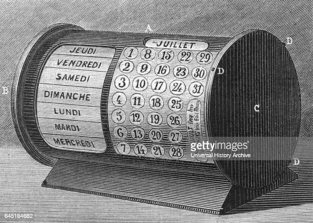 Calendrier perpetuel de M A Gouauit 1885 A perpetual calendar is a calendar valid for many years usually designed to allow the calculation of the day...
