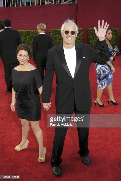 Caley Chase and Chevy Chase attend 61st Annual Primetime Emmy Awards Arrivals at Nokia Theatre LA Live on September 20 2009 in Los Angeles California