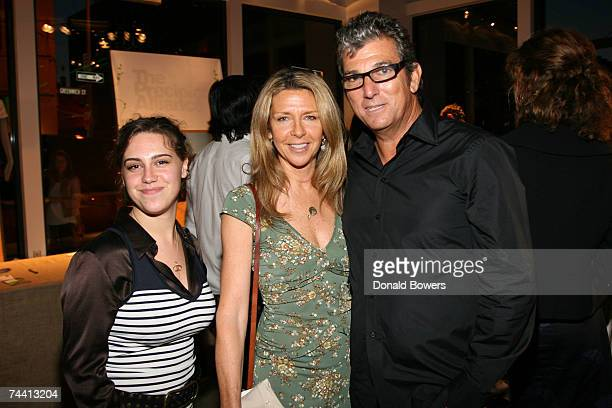 Caley Chase Jayni Chase and Andrew Rosen pose at the Theory's Going Green event at the Theory Gansevoort June 5 2007 in New York City
