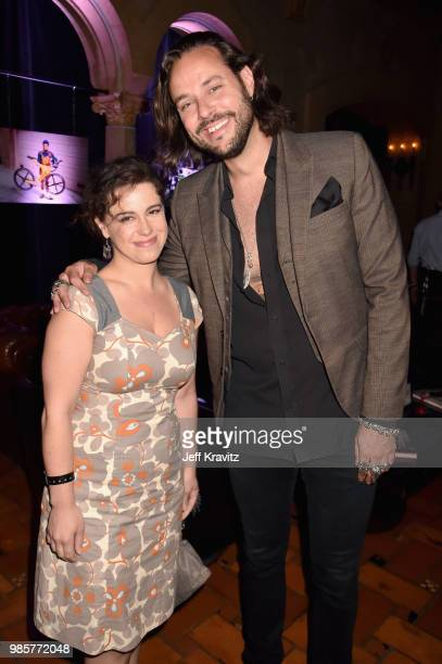 Caley Leigh Chase and guest attend the Los Angeles Premiere of Robin Williams Come Inside My Mind from HBO on June 27 2018 in Hollywood California