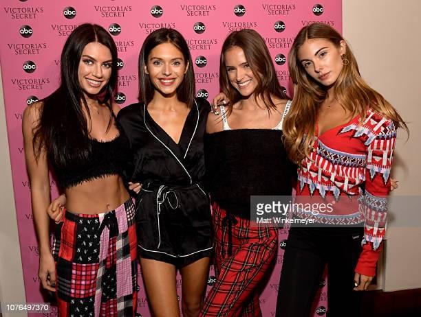CaleyRae Pavillard Alyssa Lynch Helen Owen and Carmella Rose attend the Victoria's Secret Celebrates The 2018 Victoria's Secret Fashion Show With A...