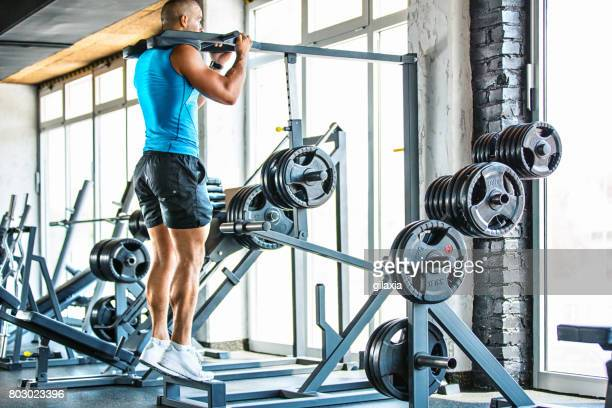 calf raises exercise. - calf stock pictures, royalty-free photos & images