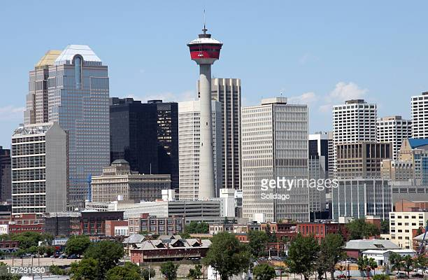 Calgary Alberta Skyline.Downtown Core