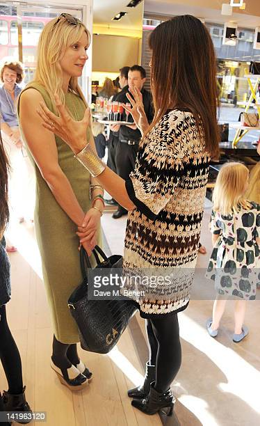Calgary Avansino and Lisa Barbuscia aka Lisa B attend a children's afternoon tea party hosted by Roger Vivier to launch their new Jeune Fille...