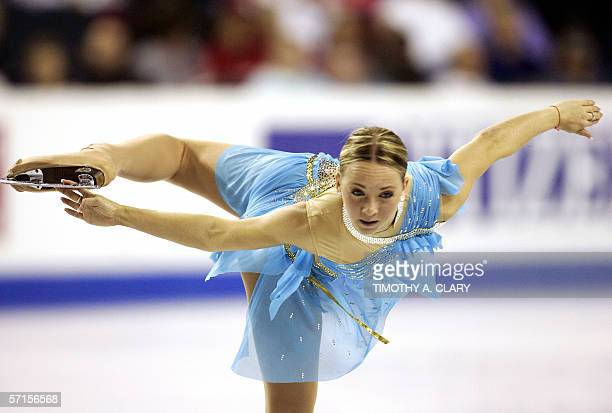 Annette Dytrt of Germany performs during the Ladies Qualifying Free Skating program 22 March 2006 at the ISU World Figure Skating Championships being...