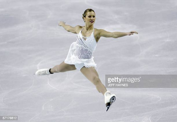Joannie Rochette of Canada performs during the Ladies Short Program 24 March 2006 at the ISU World Figure Skating Championships at the Saddledome in...