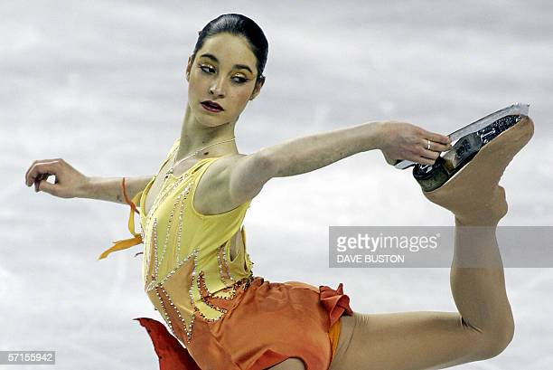 Laura Fernandez of Spain performs during the Ladies Qualifying Free Skating 22 March, 2006 at the ISU World Figure Skating Championships at the...