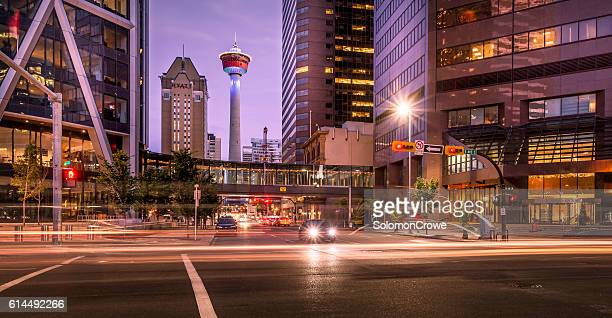 calgary city center - calgary stock pictures, royalty-free photos & images