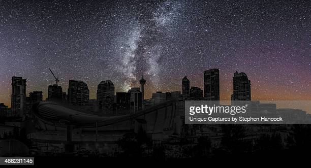 calgary : city wide blackout - blackout stock pictures, royalty-free photos & images