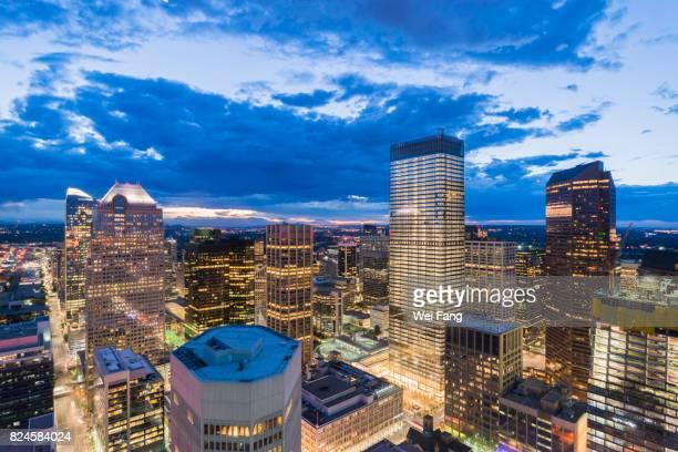 Calgary Cityscape: Bright Night
