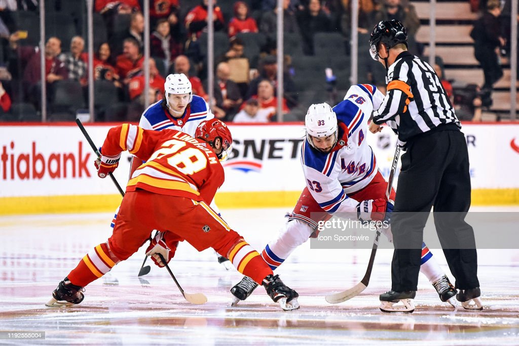 NHL: JAN 02 Rangers at Flames : News Photo