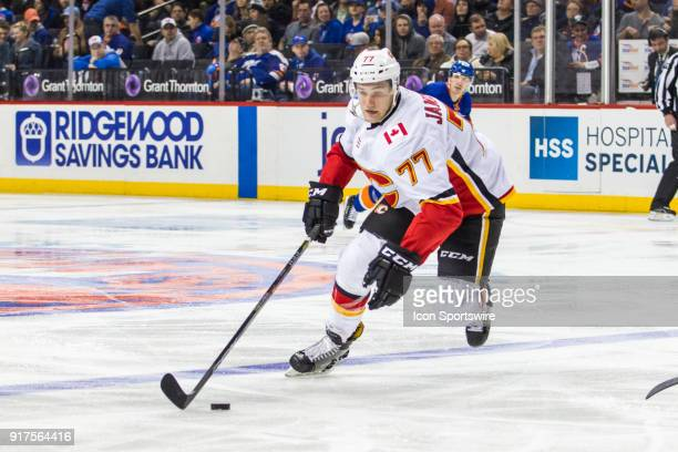 Calgary Flames Center Mark Jankowski in action during the third period of a regular season NHL game between the Calgary Flames and the New York...